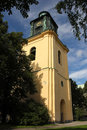 St olai church s bell clock tower norrkoping sweden the yellow campanile Royalty Free Stock Photo