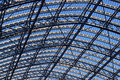 St Pancras steel and glass roof. Stock Photography