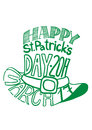 St.Patrcik`s day hat image composed of words tag cloud