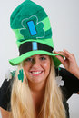 St. Patric day woman portrait Royalty Free Stock Image