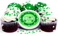 St. Patrick Cupcakes Royalty Free Stock Photography