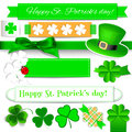 St. Patrick day elements Stock Image