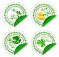 St.Patrick day labels Stock Photo