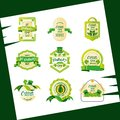 St patrick day with set seals Royalty Free Stock Photo