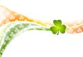 St. Patrick Day wavy background with Irish colors Royalty Free Stock Photo