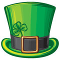 St patrick green hat leprechaun saint patricks day leprechaun patricks head irish Royalty Free Stock Photos