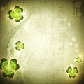St.Patrick holiday Vintage grunge background Stock Images