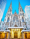 St patrick s cathedra exterior of cathedral in new york new york Stock Photo