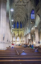 St patrick s cathedral new york nov the interior of a neogothic roman catholic in new york city on november the Stock Photography