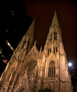 St. Patrick's Cathedral at Night New York City Royalty Free Stock Photo