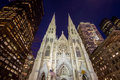 St. Patrick's Cathedral in NY Royalty Free Stock Photo