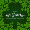 Happy st. patrick`s day with shamrock decorations