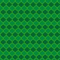 St. Patrick s day arabesque seamless pattern. Green tile background. Saint Patricks backdrop. Vector template for fabric, textile Royalty Free Stock Photo