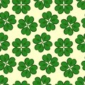 St. Patrick`s day background in green colors. Seamless pattern. Vector illustration
