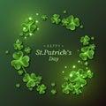 St. Patrick`s Day background. Royalty Free Stock Photo