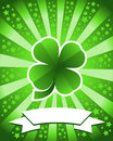 St patrick s day background saint with green clover Stock Image