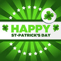 St patrick s day background saint with green clovers Royalty Free Stock Image