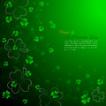 St. Patrick`s Day background with shamrock