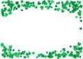 St. Patrick's Day background template with falling clover leaves