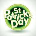 St. Patrick's Day Badge Stock Photography