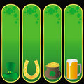 St Patrick`s day banners Stock Images