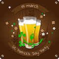 St. Patrick`s Day beer party invitation poster
