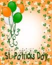 St Patrick's day Border Balloons Stock Image