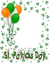 St Patrick's day Border Balloons Stock Photos