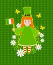 St. Patrick's Day card design Royalty Free Stock Photo
