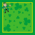 St. Patrick's Day card invite Stock Photos