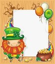 St Patrick's Day cartoon frame Stock Photography
