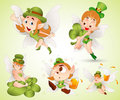 St. Patrick's Day Fairies Royalty Free Stock Photos