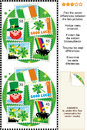 St. Patrick's Day find the differences visual puzzle Stock Photography