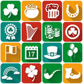 St. Patrick's Day flat icons Vector set. Royalty Free Stock Photo