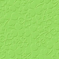 St. Patrick's day green seamless pattern with shamrock. Vector illustration. Royalty Free Stock Photo