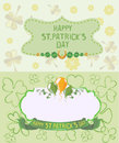 St. Patrick`s Day Greeting cards in pastel colors