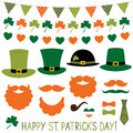 St. Patrick`s Day hats and decoration set