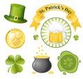 St. Patrick's Day icon set Stock Image