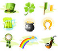 St. Patrick's Day icons Royalty Free Stock Image
