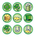 St. Patrick's Day icons Stock Photography