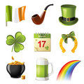 St. Patrick's day icons Royalty Free Stock Photo