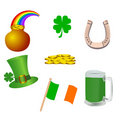 St, patrick's day icons Royalty Free Stock Photo