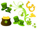 St patrick s day icons set Royalty Free Stock Images