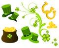 St. Patricks Day icons Royalty Free Stock Photo