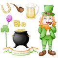 St. Patrick`s day icons set Royalty Free Stock Photo
