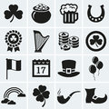 St. Patrick's Day icons set. Vector collection. Royalty Free Stock Photo