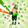 St. Patrick's Day leprechaun Royalty Free Stock Images