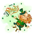 St. Patrick`s day.Lettering. Holiday card . Vector illustration.