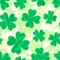 St patrick s day pattern with clover vector background Royalty Free Stock Photo