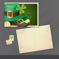 St. Patrick's Day Postcard Design Stock Image